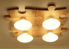 Massivholz Nordic Decke Licht Log Wohnzimmer Esszimmer Kinderzimmer Flur  Einfache Moderne Persönlichkeit Puzzle ZH MZ6