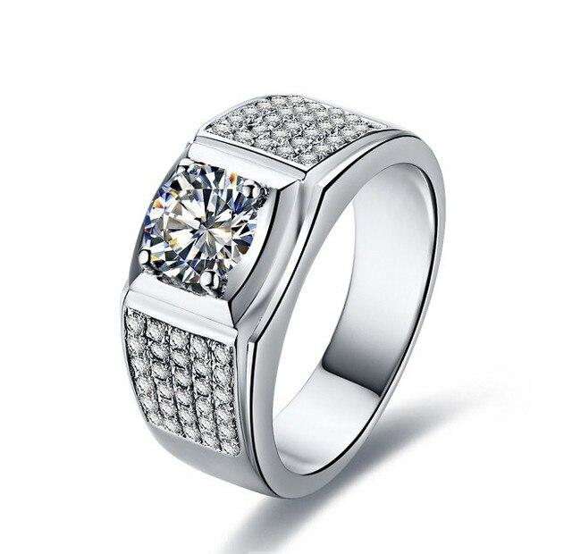 1 Carat 18 Karat Weissgold Romantische Runde Synthetischen Diamanten