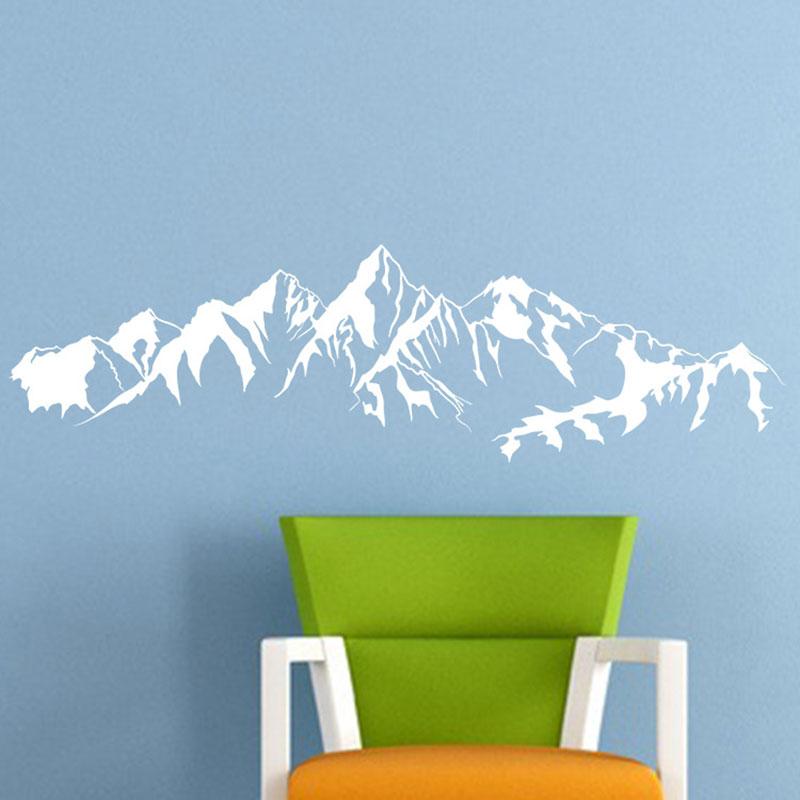 Aliexpress Buy Mountain Range Vinyl Wall Stickers Nature