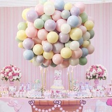 new year decoration 2019 double-layer macaron balloons 30pcs/lot 10inch ballons party favors decorations globos unicornio