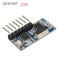 100 PCS 433 mhz RF Empfanger Lernen Code Decoder Modul 433 mhz Drahtlose 4 Kanal ausgang Fvr Fernbedienungen 1527 2262 encoding