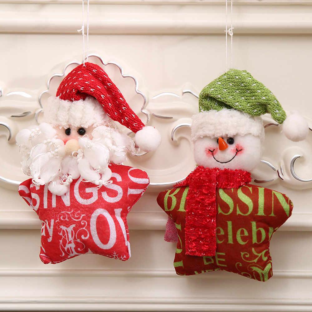Ornamen Natal Hadiah Santa Claus Snowman Pohon Mainan Boneka Menggantung Dekorasi untuk Rumah Tahun Baru Ornamen Dekorasi Pesta Dropshipping