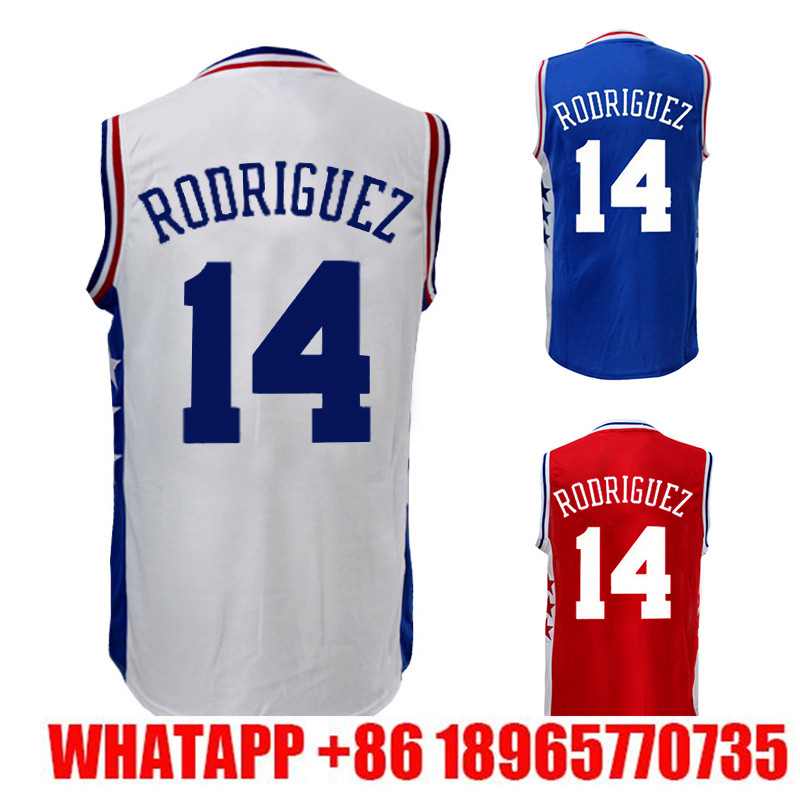 b8766993f Mens 14 Sergio Rodriguez Basketball jersey RODRIGUEZ 14 Stitched High  quality low price sales Embroidery Logos ...