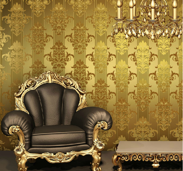 Continental Leather Wallpaper TV Backdrop Of Minimalist Luxury Gold Vertical Stripes P157 In Wallpapers From Home Improvement On Aliexpress