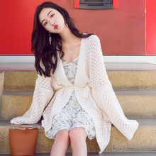 Hollow out cardigan knitted sweater