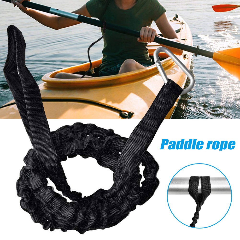 2019 Newly 1pcs Paddle Leash For Canoe Kayak Elastic Boat Ligature Aluminum Alloy Nylon   19ing