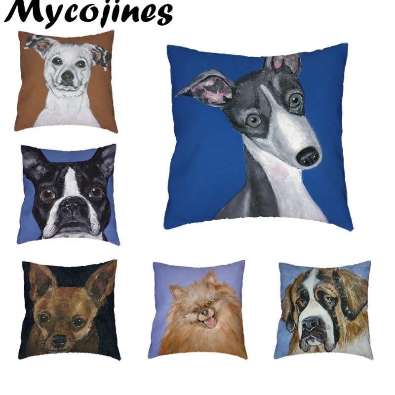 Funda de cojín Saint Bernard Australian Shepherd Greyhound 45 * 45cm - Textiles para el hogar