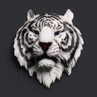 Tiger Head Wall Decoration Hanging Wall Animal Head Resin Pendant Resin Wall Ornaments Home Accessories Best