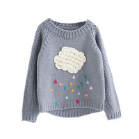 Spring Autumn Children S Girl Clouds Sweater Kids Knitwear Sweaters For Boys Baby Cotton Sweater Fashion