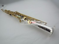New France Henri Selmer High Pitch Soprano Saxophone B Super Action 802 Silver Soprano Saxophone
