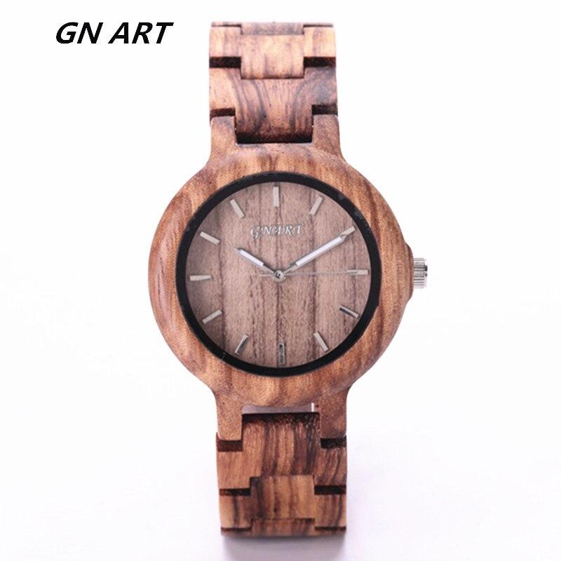 GNART099 Wooden Watch For Relogio Feminino Women Brand Luxury Wooden Watch Girls  Montre Femme 2018