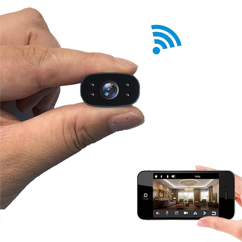 PNZEO Mini Camera Draagbare Home Security Camera 1080 P HD Draadloze WiFi Remote View Camera Nanny Cam Kleine Recorder-in Mini-camcorders van Consumentenelektronica op  Groep 1