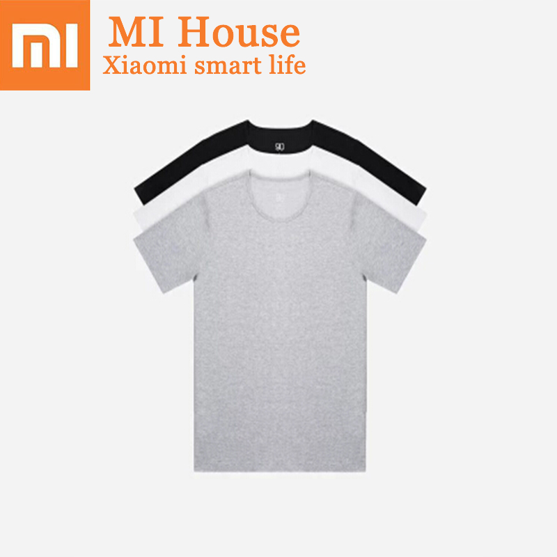 Xiaomi 90 Silver Ion Antibacterial T-Shirt 2 Pieces Men'S Sweat-Absorbent And Quick-Drying Deodorant Ultra-Thin Tshirt