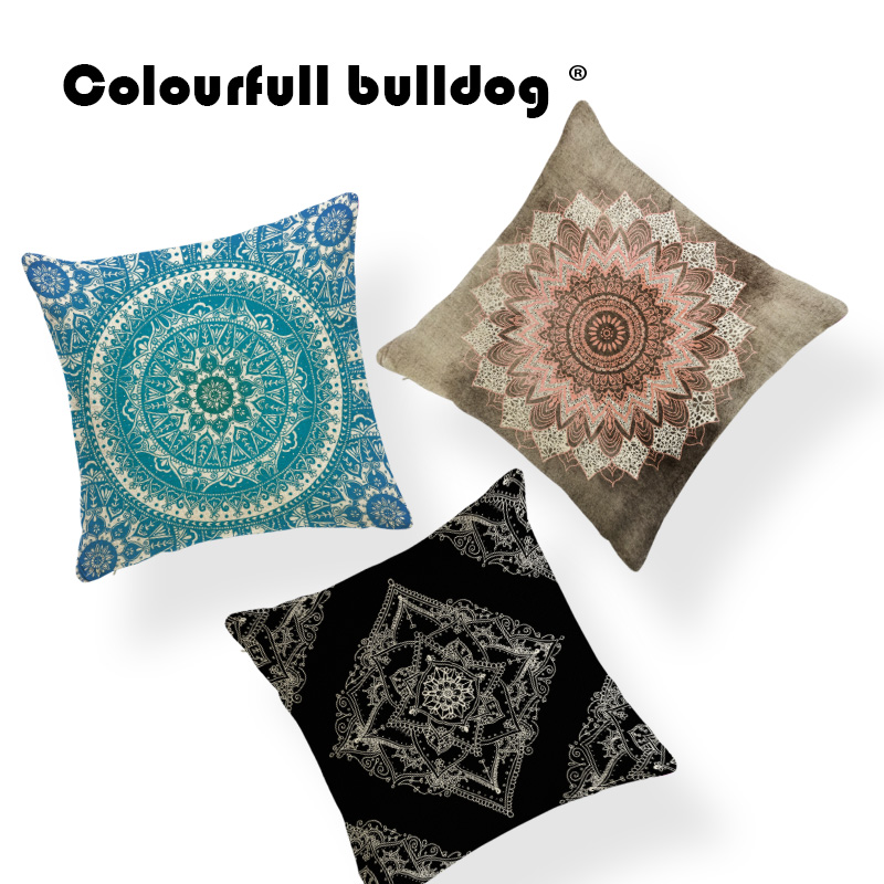 Morocco Geometry Diamond Cushion Cover Mandala Lotus Flowers Pillows For Kids Throw Pillow Cases 45*45 Polyester Novelty Gifts