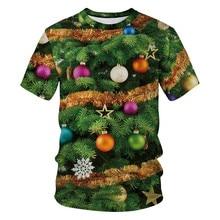 YX Girl New Fashion Womens Men Christmas T shirt Funny Tree Bell 3d Printed Tshirt Male/Female Tees Tops Santa T-shirt