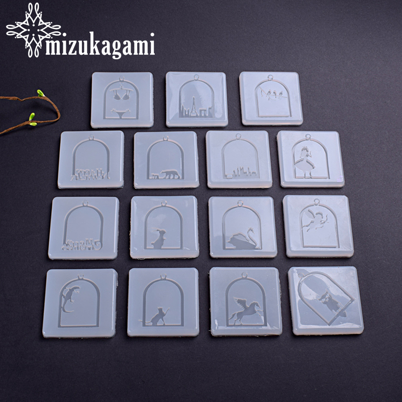 UV Resin Liquid Silicone Mold Animal Castle Charms Resin Mold Molds For DIY Pendant Charms Making Jewelry Finding Accessories