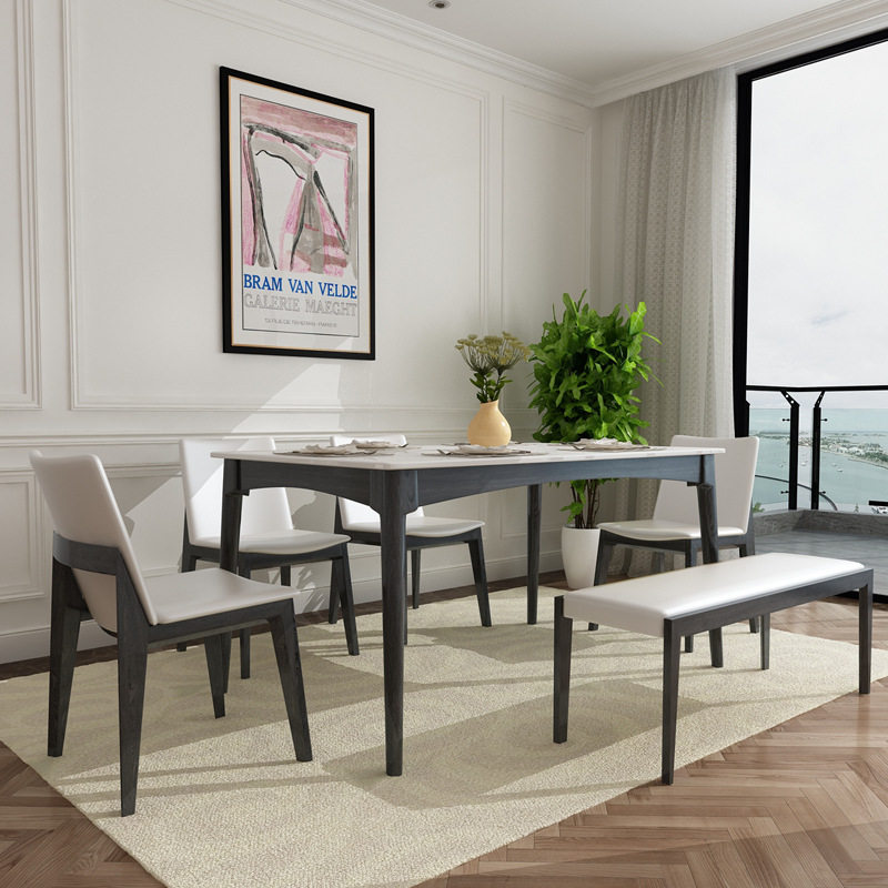 Fantastic Us 745 0 Solid Ash Wooden Dining Room Table And Chairs In Bedroom Sets From Furniture On Aliexpress Com Alibaba Group Download Free Architecture Designs Rallybritishbridgeorg