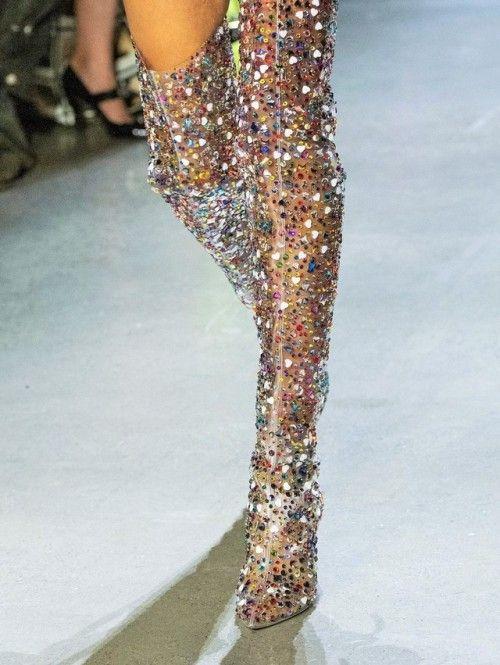 Transparente Sestito Del La Nuevo Pista Cuadrado Cristal Mujeres Bling Botas Pie Puntiagudo Zapatos De Vestido Dedo 2019 Negro Alta Tacones Señora Rodilla wwq6rpY