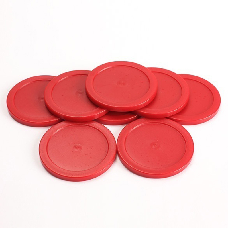 8 Pcs 63 Mm Red Air Hockey Table Pucks Puck Mallet Goalies Children Table Game Party Tools Entertainment Accessories