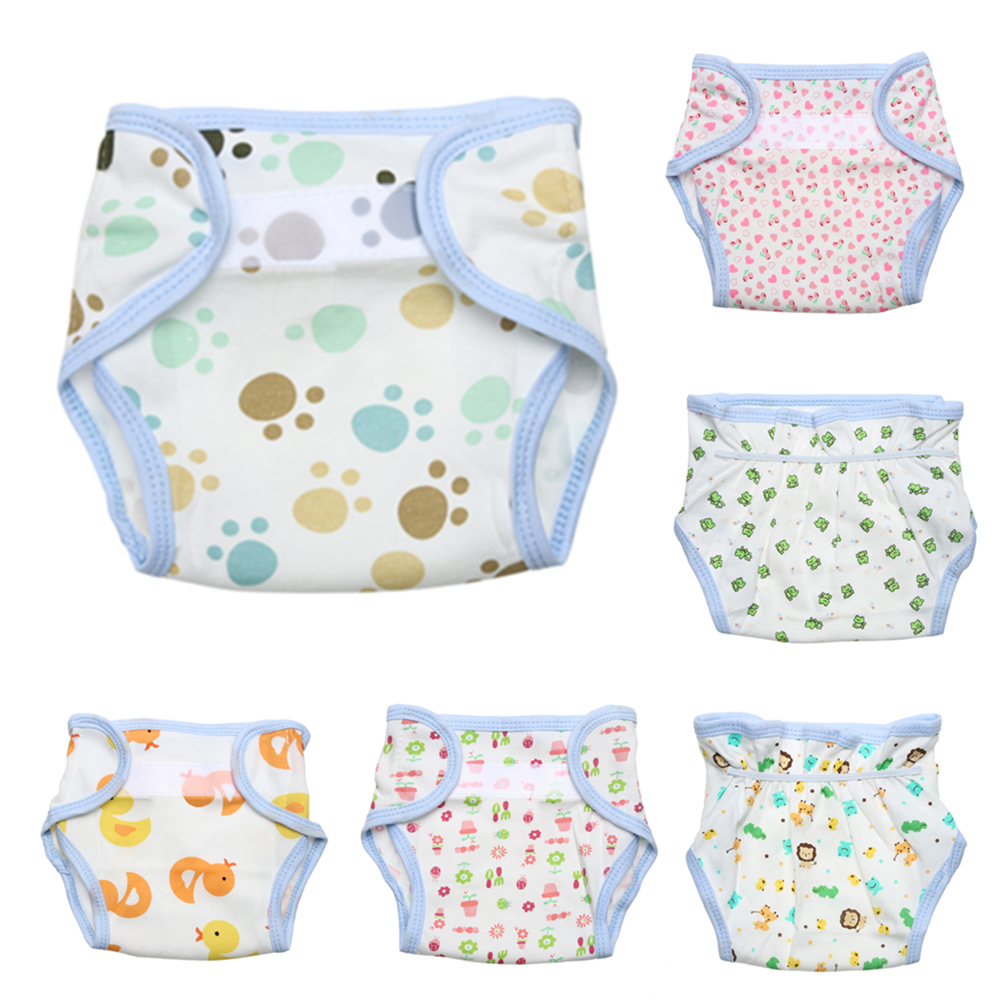 1Pc Reusable Baby Cloth Nappies Infant Nappy Cloth Diaper Cloth Soft Cover Washable Size Adjustable Winter Summer Version