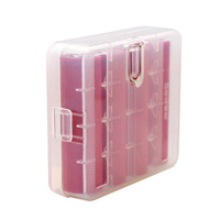 Soshine 10 Pieces 18650 Battery Storage Box Case 18650 Battery Holder Case Box with Hook Holder Transparent|Battery Storage Boxes|Consumer Electronics -