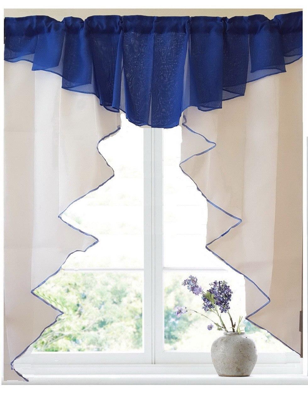 cores design de moda plissada costura cores tule cozinha varanda cortina cortinas romanas pc