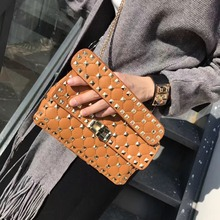 High quality hand bag of PU leather fashion women tangerine women shoulder bag, messenger bag bag mobile phone purse