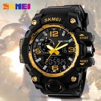 SKMEI Dual Time Дисплей Для мужчин Спорт цифровые часы хронограф светодиодные электронный аналог наручные Военная Униформа двойной время Водонеп...