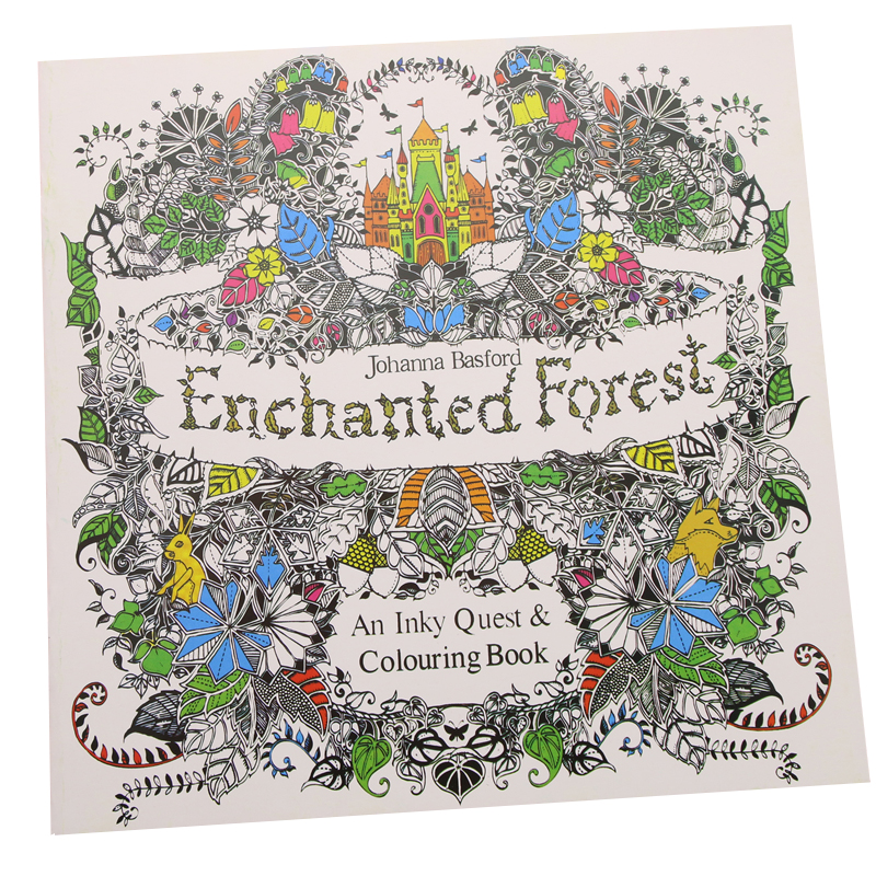 24 Pages Enchanted Forest English Edition Coloring Book For Children Adult Relieve Stress Kill Time Painting Drawing Book