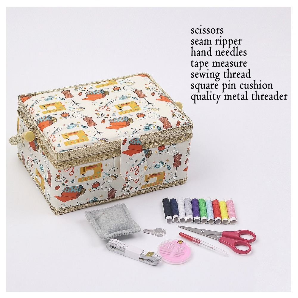 Sewing Pattern Storage Box Images Craft Decoration Ideas Cotton Fabric Basket