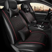 WLMWL Universal Leather Car seat cover for Mitsubishi all models ASX outlander lancer pajero sport pajero dazzle car styling