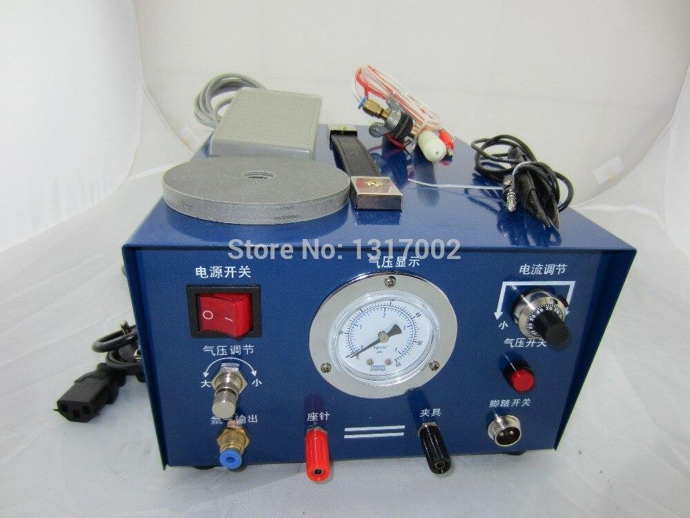 Machine à souder à l'argon, Machine à souder à anneaux, soudeuse électrique à l'argon, machine à souder à collier en métal argenté or étincelle de bijoux