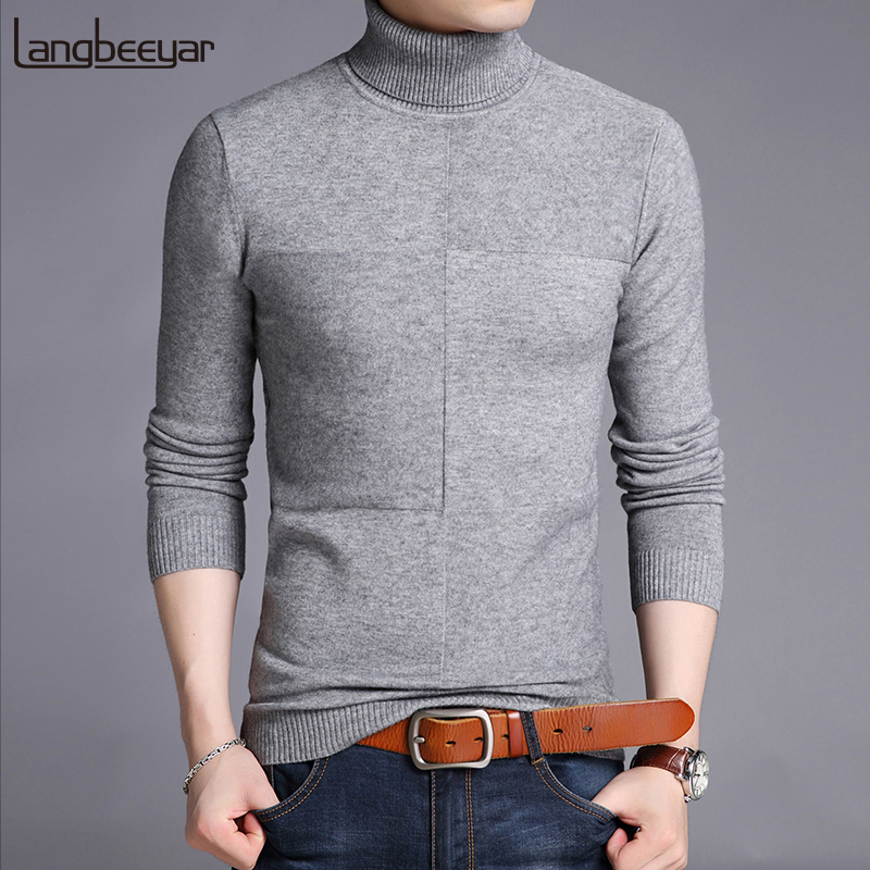 2019 New Fashion Brand Sweaters Men Pullover Woolen Slim Fit Jumpers Knitred Warm Thick Autumn Korean Style Casual Men Clothes