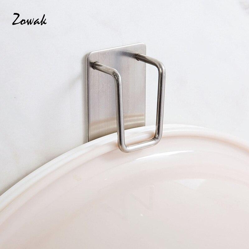 Wash Basin Hook Clamp Adhesive Stainless Steel for Home Towel Rack Kitchen Washbasin Hanging Holder Bath Hanger Organizer Holder