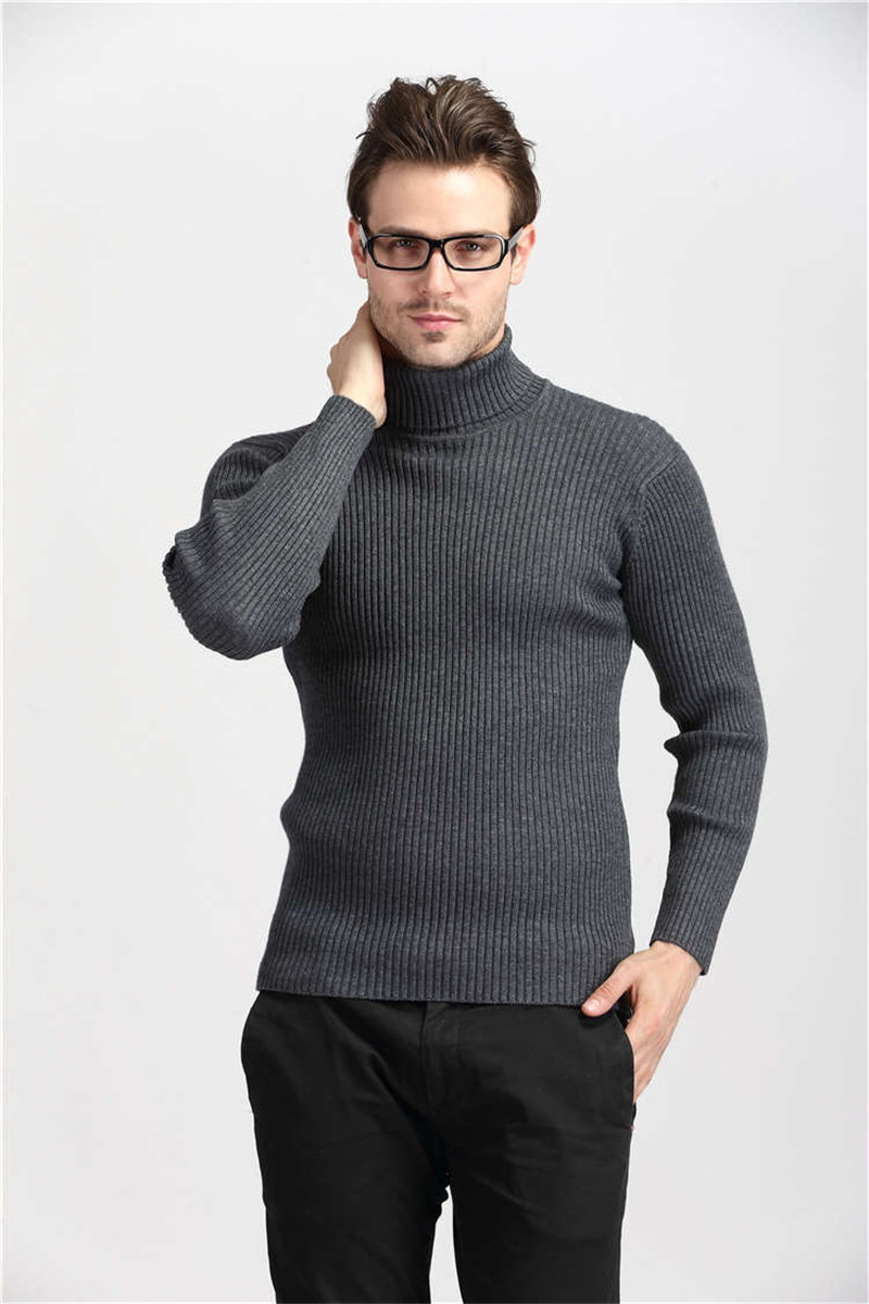 COODRONY Winter Thick Warm Cashmere Sweater Men Turtleneck Mens Sweaters Slim Fit Pullover Men Classic Wool Knitwear Pull Homme 6