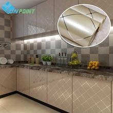 60 センチメートル × 5m 現代のゴールド塗装グリッド Diy 装飾的なステッカー家具キャビネット改修フィルム PVC 自己粘着壁紙防水