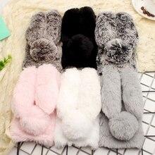 Чехол для huawei Honor 9, 3D милый кролик, теплый мех, шикарный плюшевый кролик, чехол для Coque huawei Honor 9, силиконовый чехол для телефона