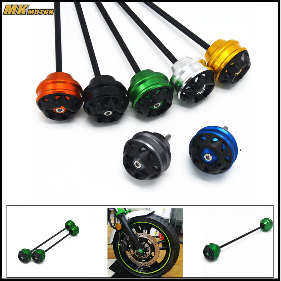 CNC Aluminum  Motorcycle Accessories  Front and rear wheels drop ball / shock absorber For Kawasaki Z900 2017 motorcycle cnc front