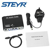 STEYR Coaxial Spdif Toslink Optical Digital To Analog L R RCA Audio Converter Adapter Support 5