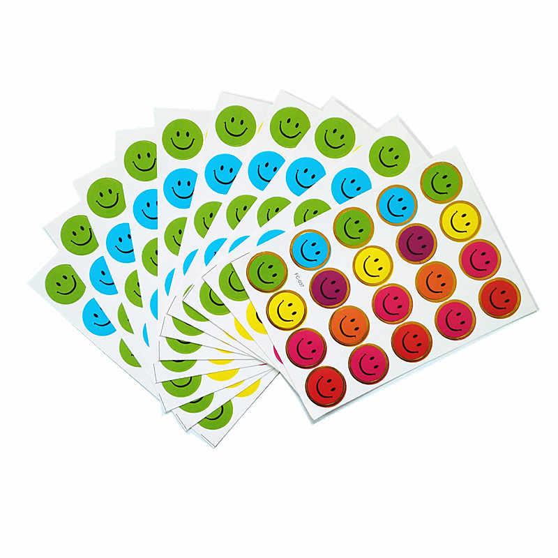 5 упаковок 10 компл./упак. мини-бумага детские игрушки цветные наклейки смайлик Детские наклейки для садиков, учительские наклейки-награды отличный подарок