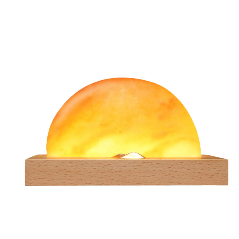 Creative new sunrise Ambient Lamp Novelty Lighting Meditation Lamp Himalayan Salt Lamp With Charger # 4m10