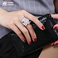 Новая мода Weave дизайн формы дамы Кольца перста позолоченные CZ установка Обручальные Кольца Мода Роскошные Ювелирные Изделия Анель Femini
