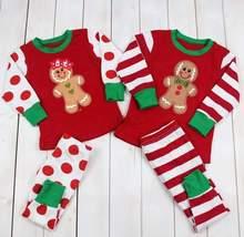 Christmas Kid Boy Girl Brother Sister Matching Gingerbread Pajamas