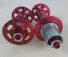 Powerway M74 sneeuw fiets hubs 32 gaten O.L.D. voor 135mm achter 190mm QR versie in Rood, 150mm 170mm 197mm steekas beschikbaar