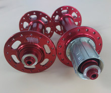 Powerway M74 snow bicycle hubs 32 holes O.L.D. front 135mm rear 190mm QR version in Red, 150mm 170mm 197mm thru axle available