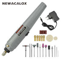 NEWACALOX EU 10W Wireless Rechargeable Mini Electric Drill Grinder Set 25pc Polishing Engraving Sharpening Machines Sanding Kit