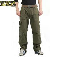 Men's Army Military Fans Trousers Bags Overalls Brand 101 Airborne Parachute Pants Removable Camouflage Tactical Pants
