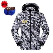 Водостойкая рыболовная одежда Daiwa пальто осень зима теплая рыболовная одежда с длинным рукавом камуфляжная рыболовная куртка ветровка