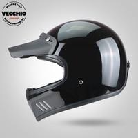 Full Face Vintage Racing Motorcycle Helmet Motocross Motorbike Casco Capacete Jet Retro Harley Full Face Helmet