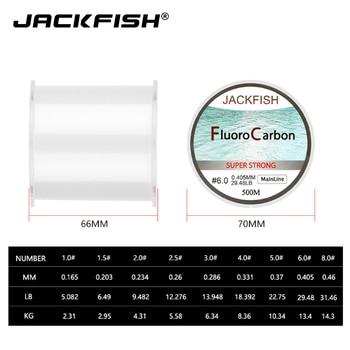 Perfect JACKFISH Fishing Line HOT SALE 500M Fluorocarbon Fishing Lines cb5feb1b7314637725a2e7: Clear